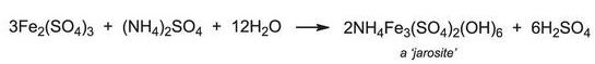 Equation for the formation of jarosite