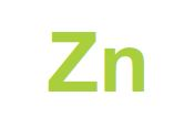 The symbol for zinc, uppercase Z lower case n